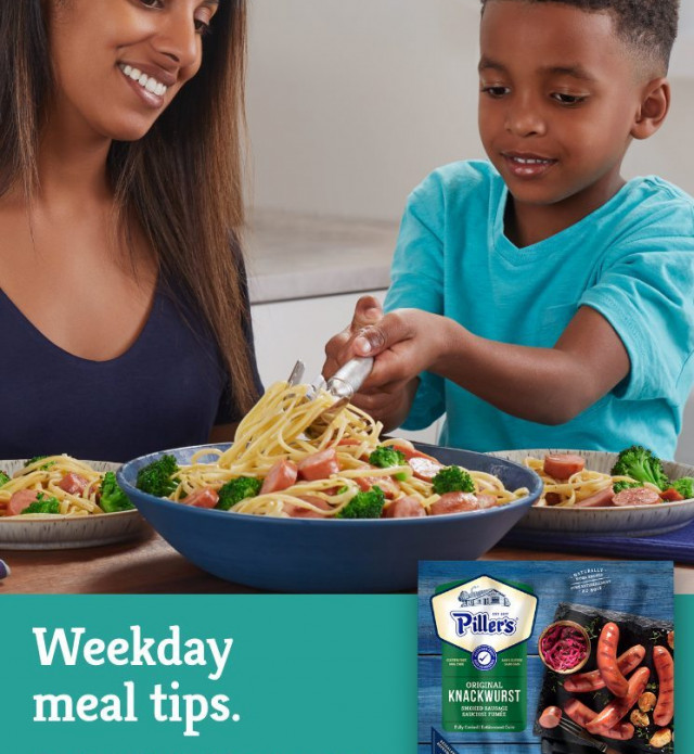 Weekday meal tips. On the table in 20 minutes or less. Quick weekday meal ideas.
